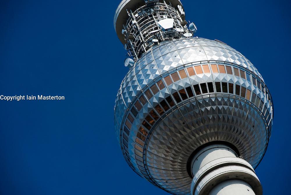Detail of Television Tower at Alexanderplatz in Mitte Berlin