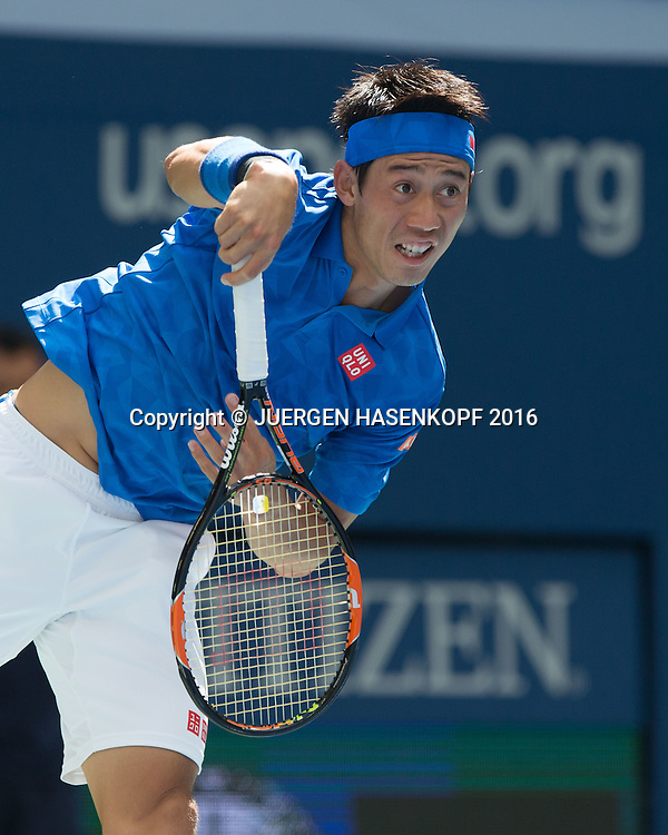 KEI NISHIKORI (JPN)<br /> <br /> Tennis - US Open 2016 - Grand Slam ITF / ATP / WTA -  USTA Billie Jean King National Tennis Center - New York - New York - USA  - 7 September 2016.