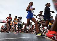 PORT ELIZABETH, SOUTH AFRICA - JULY 30: athletes at the start during the SA Half Marathon Championships on July 30, 2016 in Port Elizabeth, South Africa. (Photo by Roger Sedres/Gallo Images)