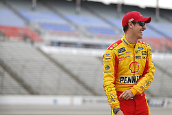 April 6, 2018 - Ft. Worth, Texas, United States of America - April 06, 2018 - Ft. Worth, Texas, USA: Joey Logano (22) waits to qualify for the O'Reilly Auto Parts 500 at Texas Motor Speedway in Ft. Worth, Texas. (Credit Image: © Stephen A. Arce Asp Inc/ASP via ZUMA Wire)