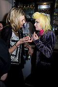 KIM HERSOV; PAM HOGG;, Launch of Stephanie Theobald's book' A Partial Indulgence'  drinks provided by Ruinart champage nd Snow Queen vodka. The Artesian at the Langham, 1c Portland Place, Regent Street, London W1