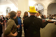 PHILIP TREACY; , ANDREA DELLAL; BOY GEORGE, Isabella Blow  by Martina Rink.  Haunch of Venison. London. 13 September 2010., DO NOT ARCHIVE-© Copyright Photograph by Dafydd Jones. 248 Clapham Rd. London SW9 0PZ. Tel 0207 820 0771. www.dafjones.com.