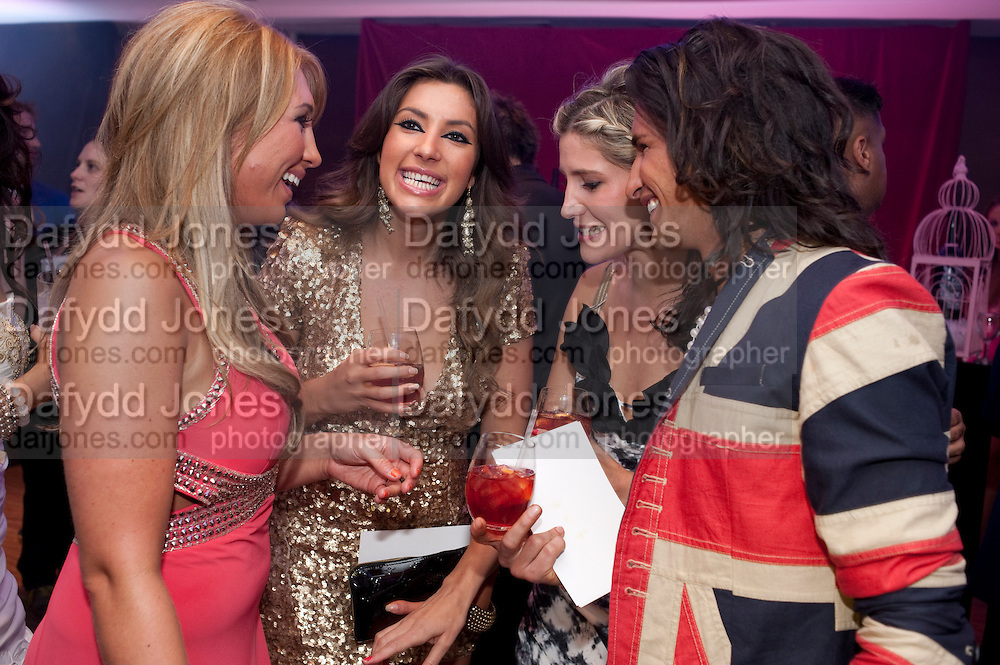 ESSEX MEETS CHELSEA; LAUREN GOODGER; GABRIELLA ELLIS; OLLIE LOCKE; CHESKA HULL; , The London Bar and Club awards. Intercontinental Hotel. Park Lane, London. 6 June 2011. <br /> <br />  , -DO NOT ARCHIVE-&copy; Copyright Photograph by Dafydd Jones. 248 Clapham Rd. London SW9 0PZ. Tel 0207 820 0771. www.dafjones.com.