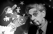 Norman Hetherington, the creator and puppeteer of Mr Squiggle, possess for a photograph in Sydney, Australia.