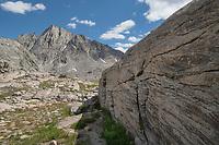 Harrower Peak seen from Indian Basin, Bridger Wilderness, Wind River Range Wyoming