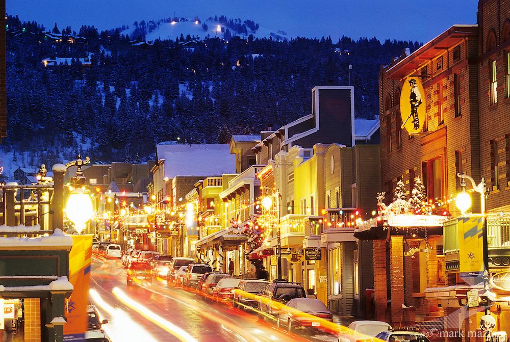 Main Street at dusk
