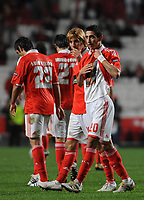 20091217: LISBON, PORTUGAL - SL Benfica vs AEK Athens: Europa League 2009/2010 - Group Stage. In picture: Angel Di Maria and Fabio Coentrao (Benfica) celebrating goal. PHOTO: Alvaro Isidoro/CITYFILES