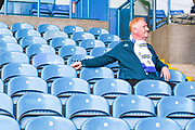 A Leeds United fan after the full time whistle during the EFL Sky Bet Championship match between Leeds United and Swansea City at Elland Road, Leeds, England on 31 August 2019.