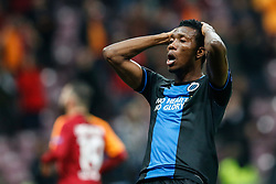 November 26, 2019, Galatasaray, Turkey: Club's David Okereke reacts during a game between Turkish club Galatasaray and Belgian soccer team Club Brugge, Tuesday 26 November 2019 in Istanbul, Turkey, fifth match in Group A of the UEFA Champions League. (Credit Image: © Bruno Fahy/Belga via ZUMA Press)