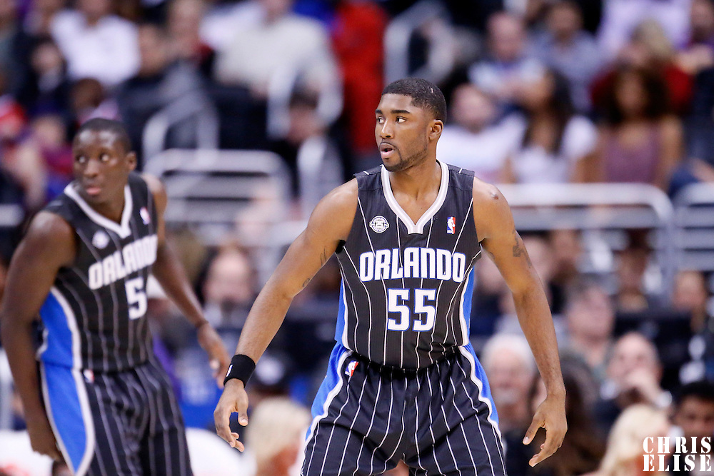 06 January 2014: Orlando Magic point guard E'Twaun Moore (55) is seen on defense during the Los Angeles Clippers 101-81 victory over the Orlando Magic at the Staples Center, Los Angeles, California, USA.