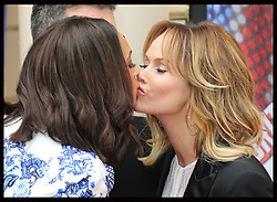 Alesha Dixon and Amanda holden share a kiss  at the launch of a the new series of Britain's Got Talent in London, Thursday, 11th April 2013 Photo by: Stephen Lock / i-Images