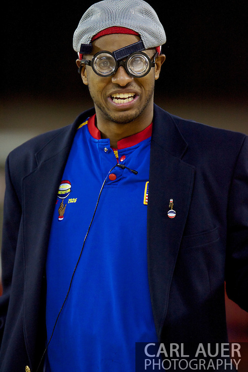 April 30th, 2010 - Anchorage, Alaska:  Harlem Globetrotter Umpire Dizzy Grant Friday night at the Sullivan Arena.
