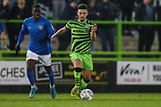 Forest Green Rovers Liam Shephard(2) on the ball during the EFL Sky Bet League 2 match between Forest Green Rovers and Macclesfield Town at the New Lawn, Forest Green, United Kingdom on 29 December 2019.