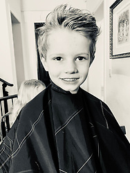"""Jessica Simpson releases a photo on Twitter with the following caption: """"""""He really wanted short hair. It broke my heart a little, but we did it!! My little man 💚 #ACEKNUTE"""""""". Photo Credit: Twitter *** No USA Distribution *** For Editorial Use Only *** Not to be Published in Books or Photo Books ***  Please note: Fees charged by the agency are for the agency's services only, and do not, nor are they intended to, convey to the user any ownership of Copyright or License in the material. The agency does not claim any ownership including but not limited to Copyright or License in the attached material. By publishing this material you expressly agree to indemnify and to hold the agency and its directors, shareholders and employees harmless from any loss, claims, damages, demands, expenses (including legal fees), or any causes of action or allegation against the agency arising out of or connected in any way with publication of the material."""