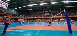 30-12-2013 VOLLEYBAL: DELA TROPHY NEDERLAND - BELGIE: DEN BOSCH <br /> Nederland wint de Dela Trophy door Belgie met 3-1 te verslaan / Maaspoort Arena hal<br /> ©2013-FotoHoogendoorn.nl