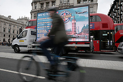UK ENGLAND LONDON 22JUN16 - A truck displaying a Vote Remain campaign message drives past Westminster, London.<br /> <br /> jre/Photo by Jiri Rezac<br /> <br /> © Jiri Rezac 2016