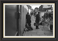Series of 7 Black and White Photographes Depicting Brick Lane Market London,  2 feb 1984<br /> A2/A3 Museum-quality Archival signed Framed Print (Limited Edition of 25) From Series of 7 Limited Edition (25) Large Framed Prints A3 Shot on film neg Black and White pictures Depicting Brick Lane Market London, 2 feb 1984 Photographer Jack Ludlam<br /> £1,200
