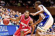 21 November 2009: Radford (11) Amir Johnson junior guard  looks for an opening against Duke junior guard #2 Nolan Smith.Duke Rolls Past Radford 104-67 .Mandatory Credit: Mark Abbott / Southcreek Global