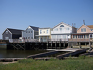 Houses in Broad Channel, New York.