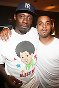 l to r: Pete Rock and DJ Chaps at Rock The Bells Presents Reflection Eternal held at  BB KIngs on August 28, 2009 in New York City