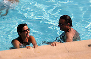 Andy Garcia swimming with Yennifer Behrins at the Hotel Du Cap pool.Hotel Du Cap - 2007 Cannes Film Festival .Cap D'Antibes, France .Thursday, May 24, 2007.Photo By Celebrityvibe; .To license this image please call (212) 410 5354 ; or.Email: celebrityvibe@gmail.com ;