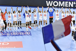 France team jubilates after the Women's european handball chanmpionship preliminary round, Slovenia vs France. Nancy, Fance -02/12/2018//POLEMILE_01POL20181202NAN001/Credit:POL EMILE / SIPA/SIPA/1812021731