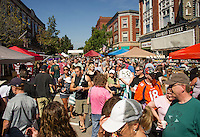 Huge crowds are drawn to Laconia's downtown for the New Hampshire Coffee Festival on Saturday afternoon.  (Karen Bobotas/for the Laconia Daily Sun)