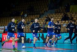 Players of RK Celje Pivovarna Lasko before handball match between RK Celje Pivovarna Lasko (SLO) and HC PPD Zagreb (CRO) in Group phase of VELUX EHF Men's Champions League 2018/19, November 18, 2018 in Arena Zlatorog, Celje, Slovenia. Photo by Urban Urbanc / Sportida