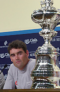 Russel Coutts and the America's Cup at the Pre cup press conference. 14/2/2003 (© Chris Cameron 2003)