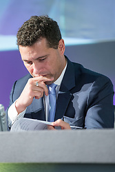**FILE PIC - Steven Woolfe has been reportedly taken to hospital after collapsing at the European Parliament building in Strasbourg**<br /> © Licensed to London News Pictures . 26/09/2014 . Doncaster , UK . Steven Woolfe on the panel . The UKIP Conference 2014 at Doncaster Racecourse . Photo credit : Joel Goodman/LNP