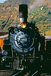 June 2000:  Images from the Durango and Silverton Narrow Gauge Railway which runs along the Animas River between Durango and Silverton Colorado.  The engines are all restored working steam engines and the cars are refurbished from period cars.  The railway is often used in old westerns to depict the rail life from the days of the old west.<br />