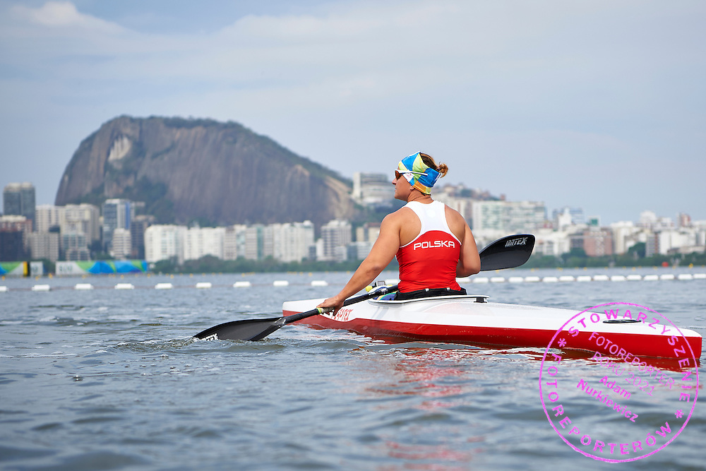 Rio de Janeiro, Brazil - 2016 September 03: Kamila Kubas from Poland during canoe sprint training session in Lagoa Stadium while 2016 Summer Paralympic Games on September 03, 2016 in Rio de Janeiro, Brazil.<br /> Rio 2016 Paralympic Games will be held from September 7 until 18.<br /> <br /> Adam Nurkiewicz declares that he has no rights to the image of people at the photographs of his authorship.<br /> <br /> Picture also available in RAW (NEF) or TIFF format on special request.<br /> <br /> Any editorial, commercial or promotional use requires written permission from the author of image.<br /> <br /> Mandatory credit:<br /> Photo by &copy; Adam Nurkiewicz / Mediasport