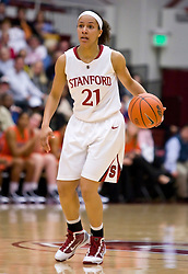 February 20, 2010; Stanford, CA, USA;  Stanford Cardinal guard Rosalyn Gold-Onwude (21) during the second half against the Oregon St. Beavers at Maples Pavilion.  Stanford defeated Oregon State 82-48.