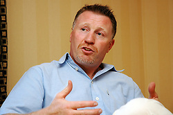 "Steve Collins (AKA the Celtic Warrior):-  former world champion middleweight boxer, has also had parts in Lock Stock and Two Smoking Barrels and U2 Video  is guest of honor at ""A Banquet To Champions"" held at the Brooklands Hotel Rotherham..1 September 2006.Copyright Paul David Drabble"