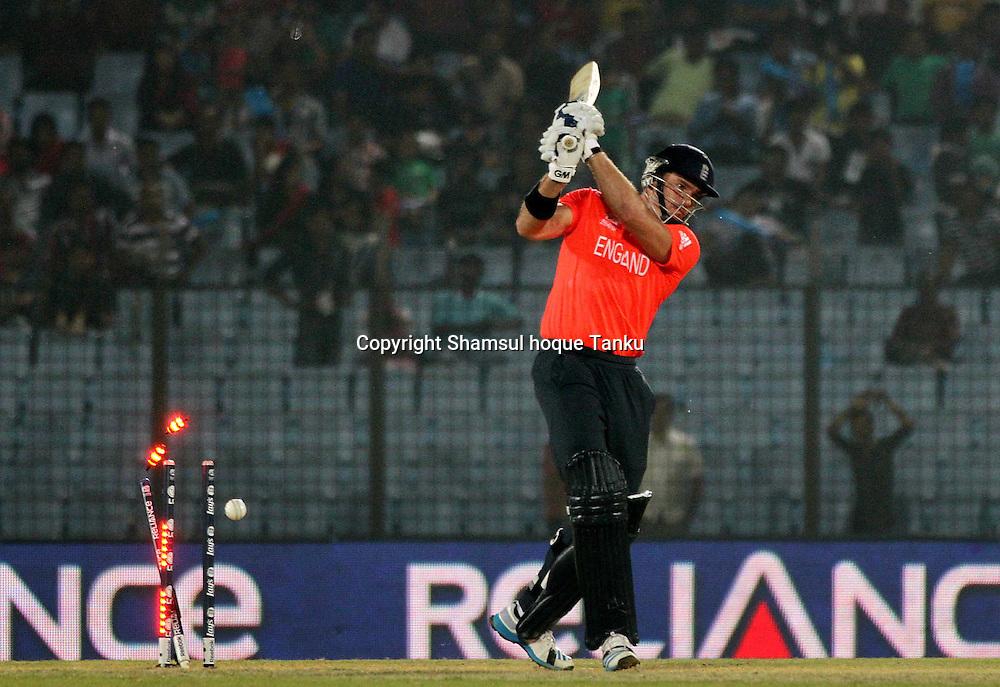 England v Sri Lanka - ICC World Twenty20, Bangladesh 2014. 28 March 2014, Zahur Ahmed Chowdhury Stadium, Chittagong. Photo: Shamsul hoque Tanku/www.photosport.co.nz