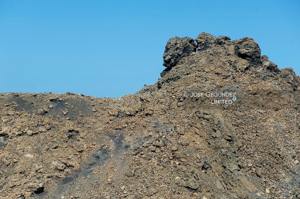 Timanfaya National Park, Lanzarote, Canary Islands. Volcanic Landscape