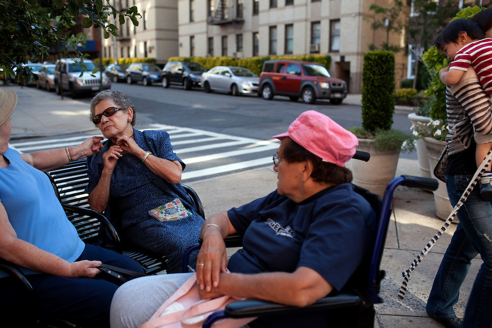 Residents of Hudson Heights gather in Manhattan, NY on June 23, 2012.