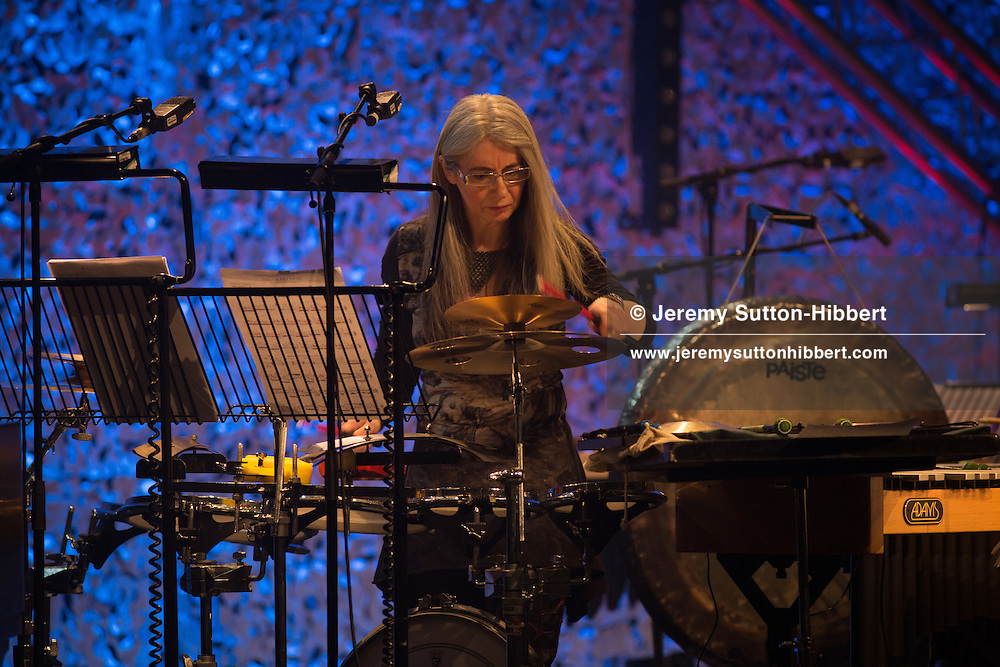 "Dame Evelyn Glennie & Trilok Gurtu perform ""The Rhythm in Me"", at the Celtic Connections festival in the Royal Concert Hall, Glasgow, Scotland, on 1  February  2017."