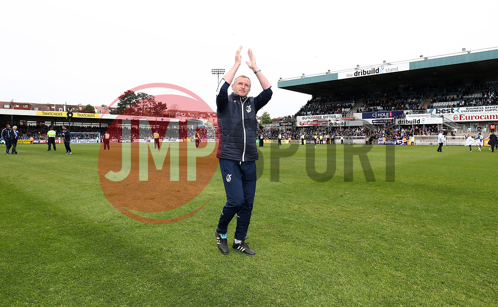 Steve Yates, Coach of Bristol Rovers - Mandatory by-line: Gary Day/JMP - 30/04/2017 - FOOTBALL - Memorial Stadium - Bristol, England - Bristol Rovers v Millwall - Sky Bet League One