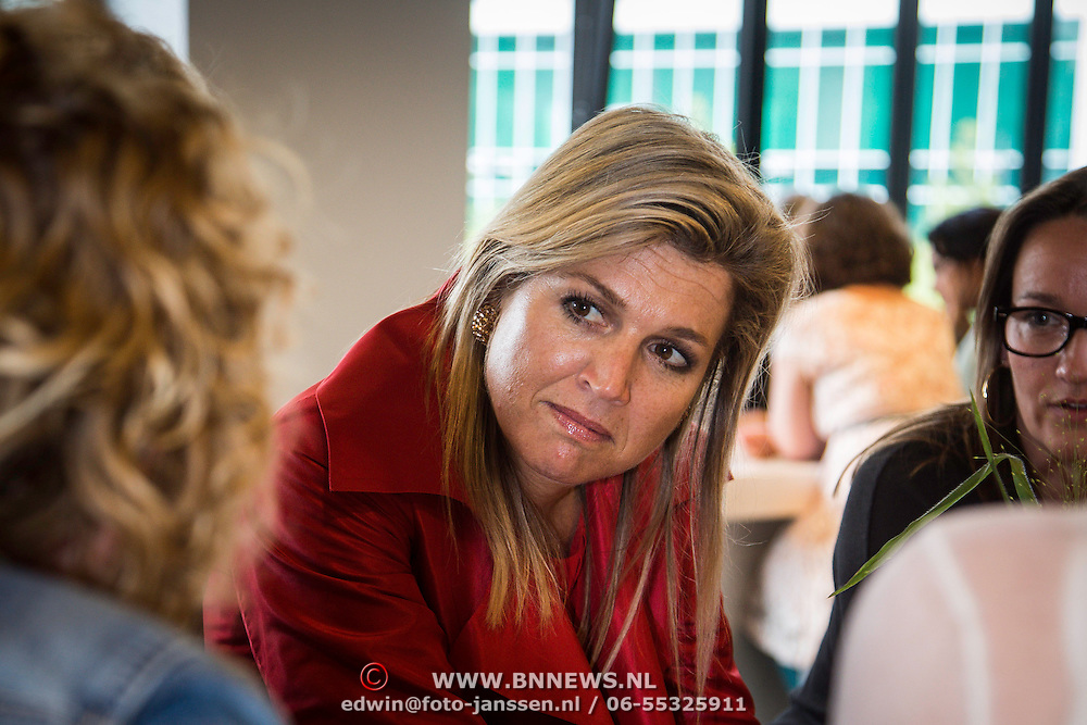 NLD/Eindhoven/20140623 - Rondetafelgesprek Koningin Maxima bij bijeenkomst Kracht on Tour<br /> <br /> Queen Maxima attends the Power on Tour meeting in Eindhoven the Netherlands