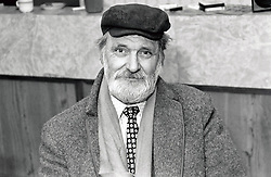 Portrait of an elderly man, All Saints Community Centre, Nottingham, UK 1987