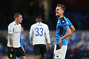 Arkadiusz Milik of Napoli reacts during the UEFA Champions League, Group E football match between SSC Napoli and KRC Genk on December 10, 2019 at Stadio San Paolo in Naples, Italy - Photo Federico Proietti / ProSportsImages / DPPI