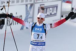 11.03.2016, Holmenkollen, Oslo, NOR, IBU Weltmeisterschaft Biathlon, Oslo, 4x6 Km Staffel, Damen, im Bild Krystyna Guzik (POL) // during 4x6 km women relay of the IBU World Championships, Oslo 2016 at the Holmenkollen in Oslo, Norway on 2016/03/11. EXPA Pictures © 2016, PhotoCredit: EXPA/ Newspix/ Tomasz Jastrzebowski<br /> <br /> *****ATTENTION - for AUT, SLO, CRO, SRB, BIH, MAZ, TUR, SUI, SWE only*****