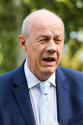 © Licensed to London News Pictures. 04/009/2019. London, UK. Theresa May's former deputy DAMIAN GREEN speaks with media in College Green. On Monday 3 Sept 2019, MP's voted by 328 -301 with a majority of 27 to take control of the House of Commons agenda for Tuesday 4 Sept 2019. Photo credit: Dinendra Haria/LNP