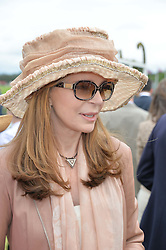 QUEEN NOOR OF JORDAN at the Cartier Queen's Cup Final polo held at Guards Polo Club, Smith's Lawn, Windsor Great Park, Egham, Surrey on 15th June 2014.
