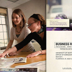 Viewbook for University of North Alabama, Florence, Ala. Design by Mindpower, Inc. (www.mindpowerinc.com)