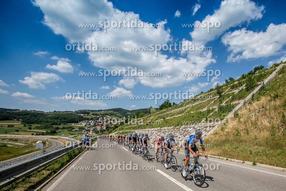 Peleton during Stage 4 from Skofja Loka to Novo Mesto (153 km) of cycling race 21st Tour of Slovenia, on June 22, 2014 in Slovenia. Photo By Urban Urbanc / Sportida