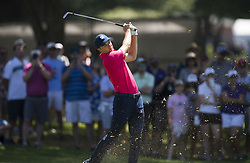 May 26, 2018 - Fort Worth, TX, USA - FORT WORTH, TX - MAY 26, 2018 - Jordan Spieth hits his approach to the 7th hole during the third round of the 2018 Fort Worth Invitational PGA at Colonial Country Club in Fort Worth, Texas (Credit Image: © Erich Schlegel via ZUMA Wire)