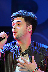© Licensed to London News Pictures. 12/10/2013, UK. 5 Jaymi Hensley; Union J, Girlguiding BIG GIG, Wembley Arena, London UK, 12 October 2013. Photo credit : Richard Goldschmidt/Piqtured/LNP
