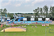 Nederland, the netherlands, Groot-Ammers, 30-6-2018Openlucht zwembad de Dompelaar bij Groot Ammers ligt vlak naast de rivier de Lek .Foto: Flip Franssen